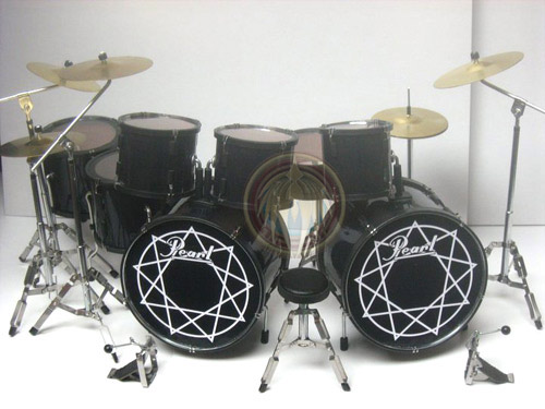 Miniature drum set Pearl double