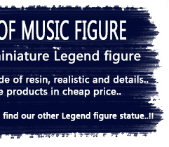 Miniature statue figure with teh guitars