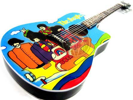 Beatles Yellow Sub acoustic guitar  miniature