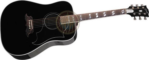 Acoustic Guitar Black miniature