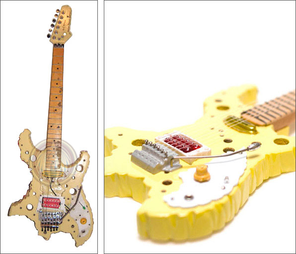 Miniature guitar Ron Thal Swiss