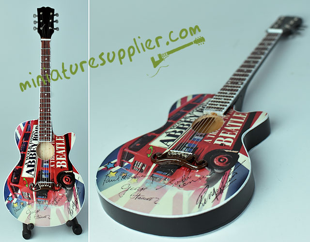 The Beatles, Abbey Road guitar acoustic miniature