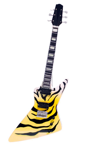 Paul Stanley tiger Miniature guitar