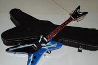 miniature guitar with hard case