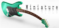 miniature guitar replica made in Bali Indonesia