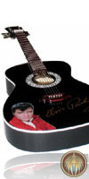 Miniature guitar black Elvis Presley