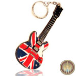 Union  Jack Guitar Key ring