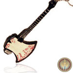 Key ring guitar Bass Axe
